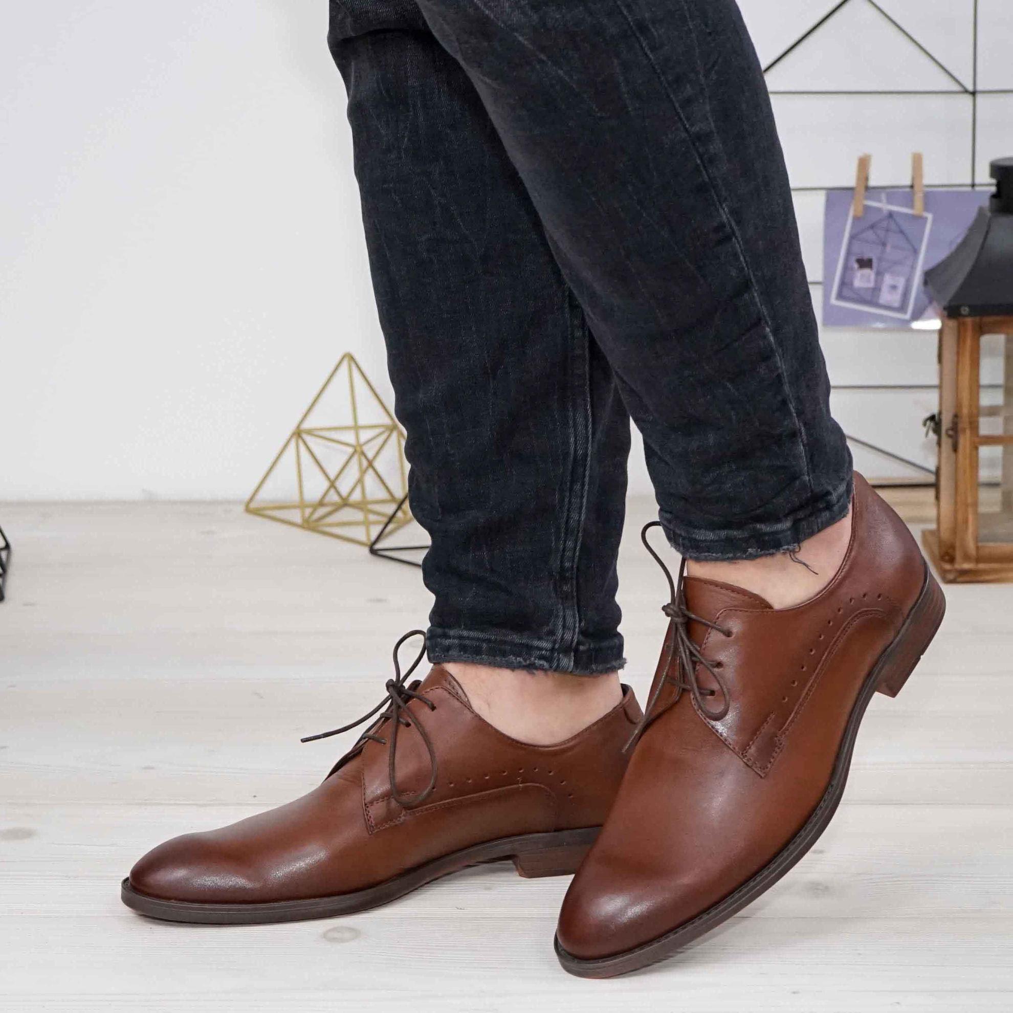 Imagine Pantofi eleganți bărbați din piele naturală 395-S Maro