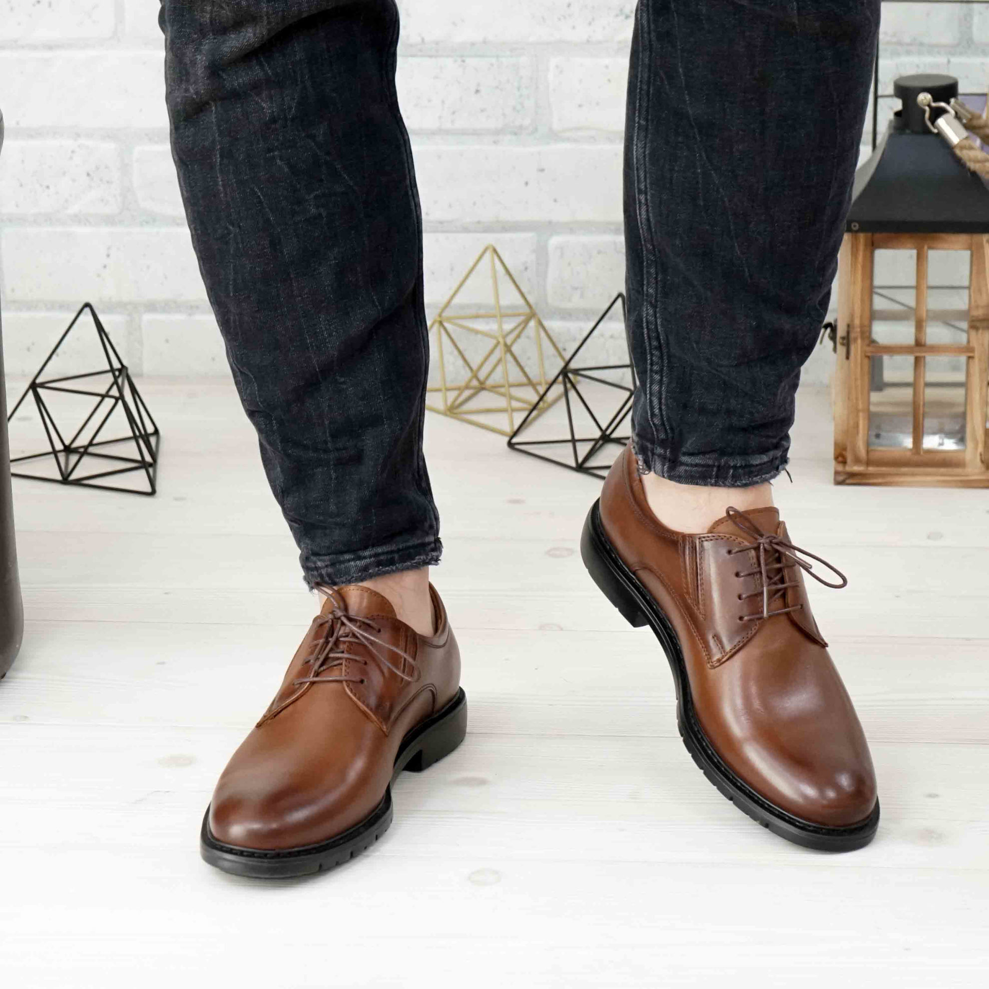 Imagine Pantofi eleganți bărbați din piele naturală 397 Maro SW