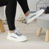 Imagine Pantofi damă piele naturală 144 alb-albastru