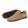 Imagine Pantofi casual bărbați piele naturală C116  coniac perforat