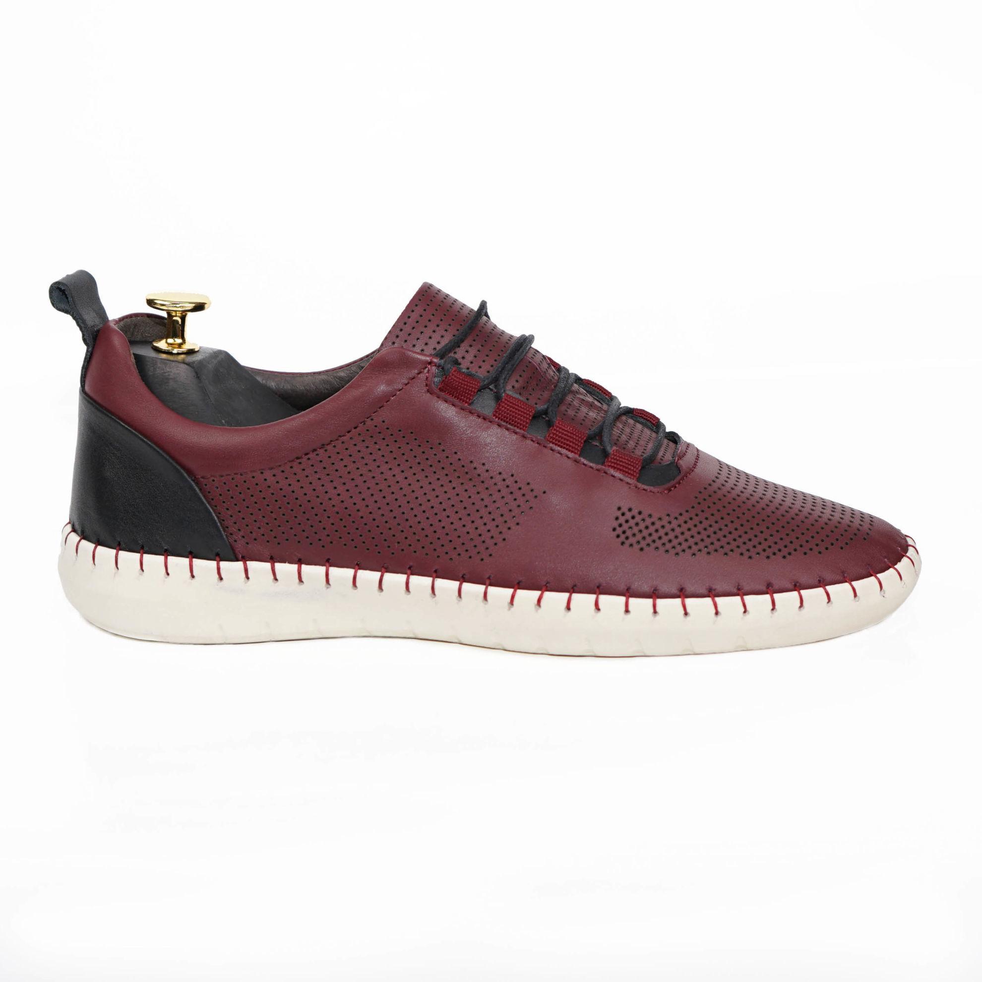 Imagine Pantofi casual bărbați piele naturală 691 Visiniu