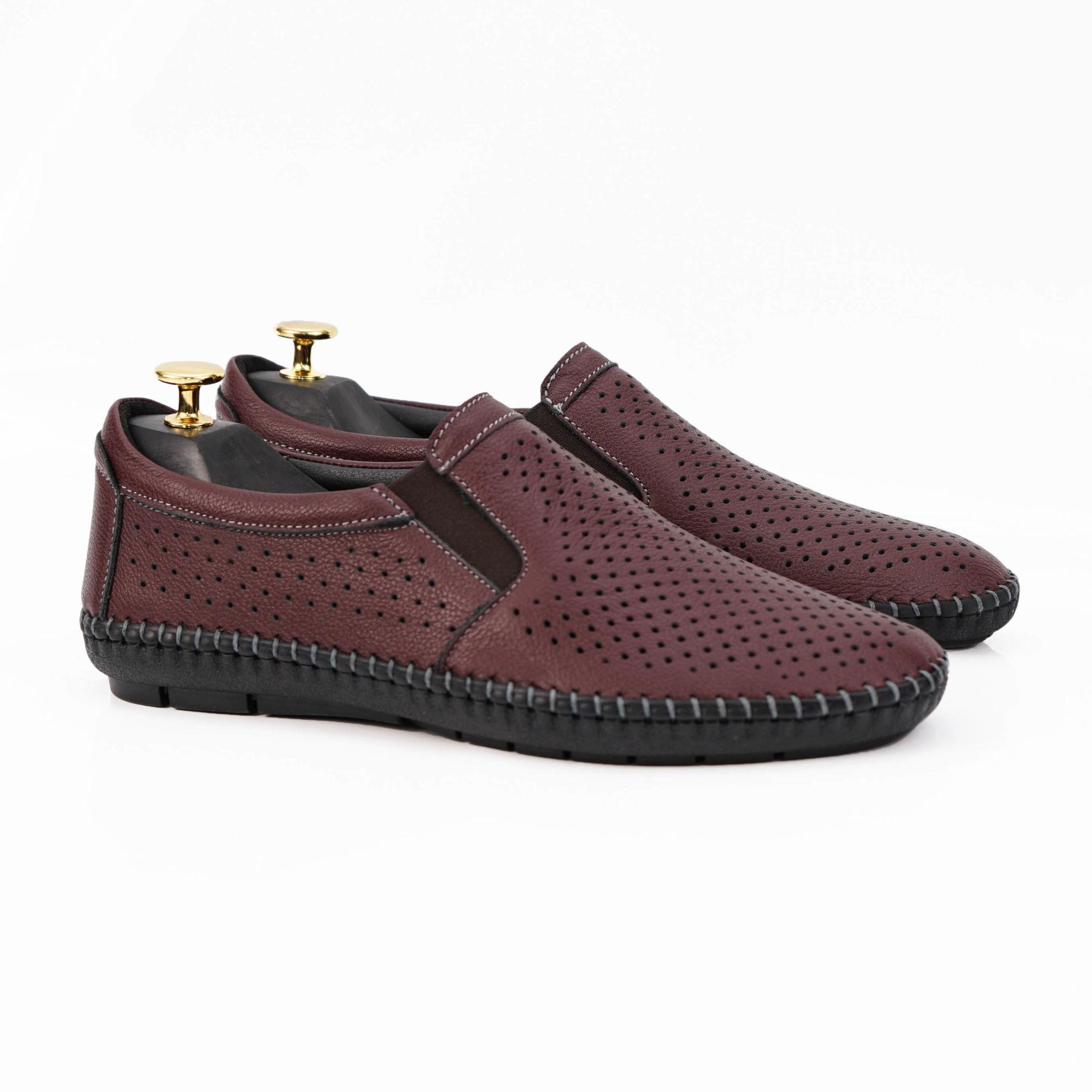 Imagine Pantofi casual bărbați piele naturală 600 Vișiniu