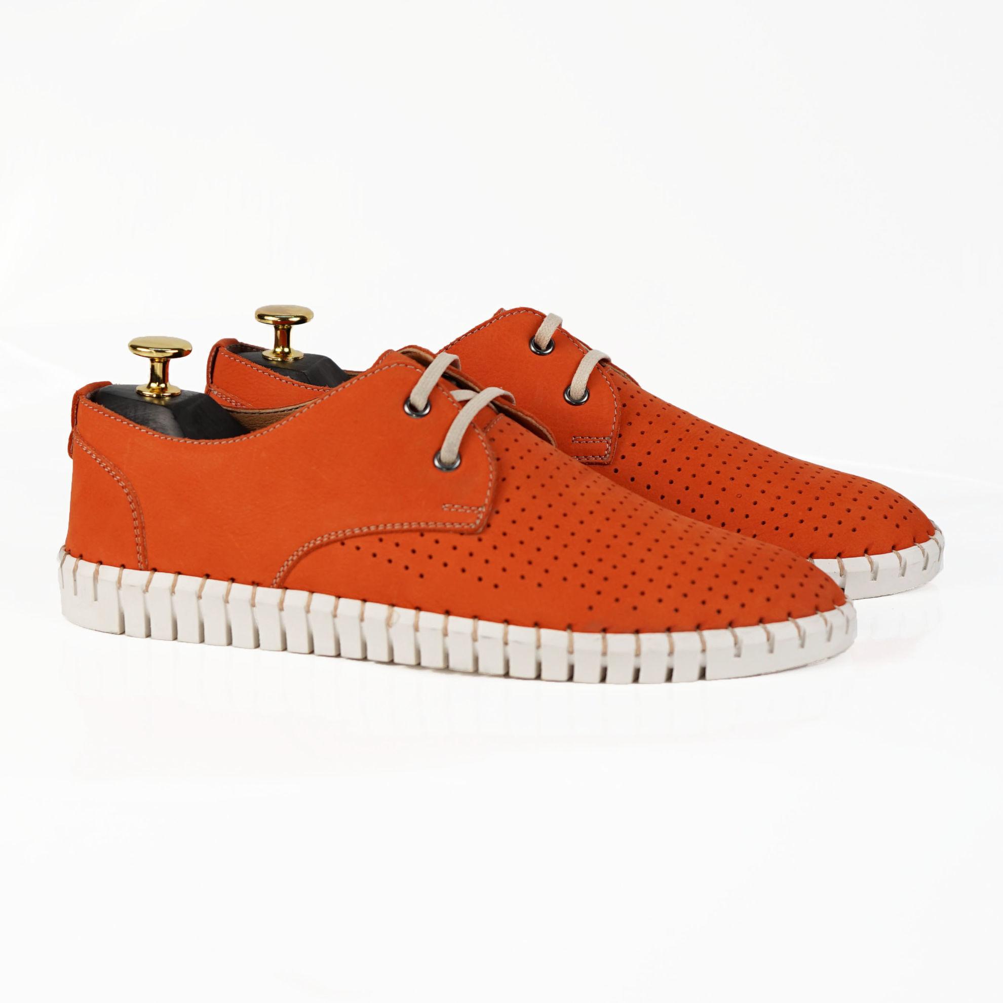 Imagine Pantofi casual bărbați piele naturală 560 Portocaliu