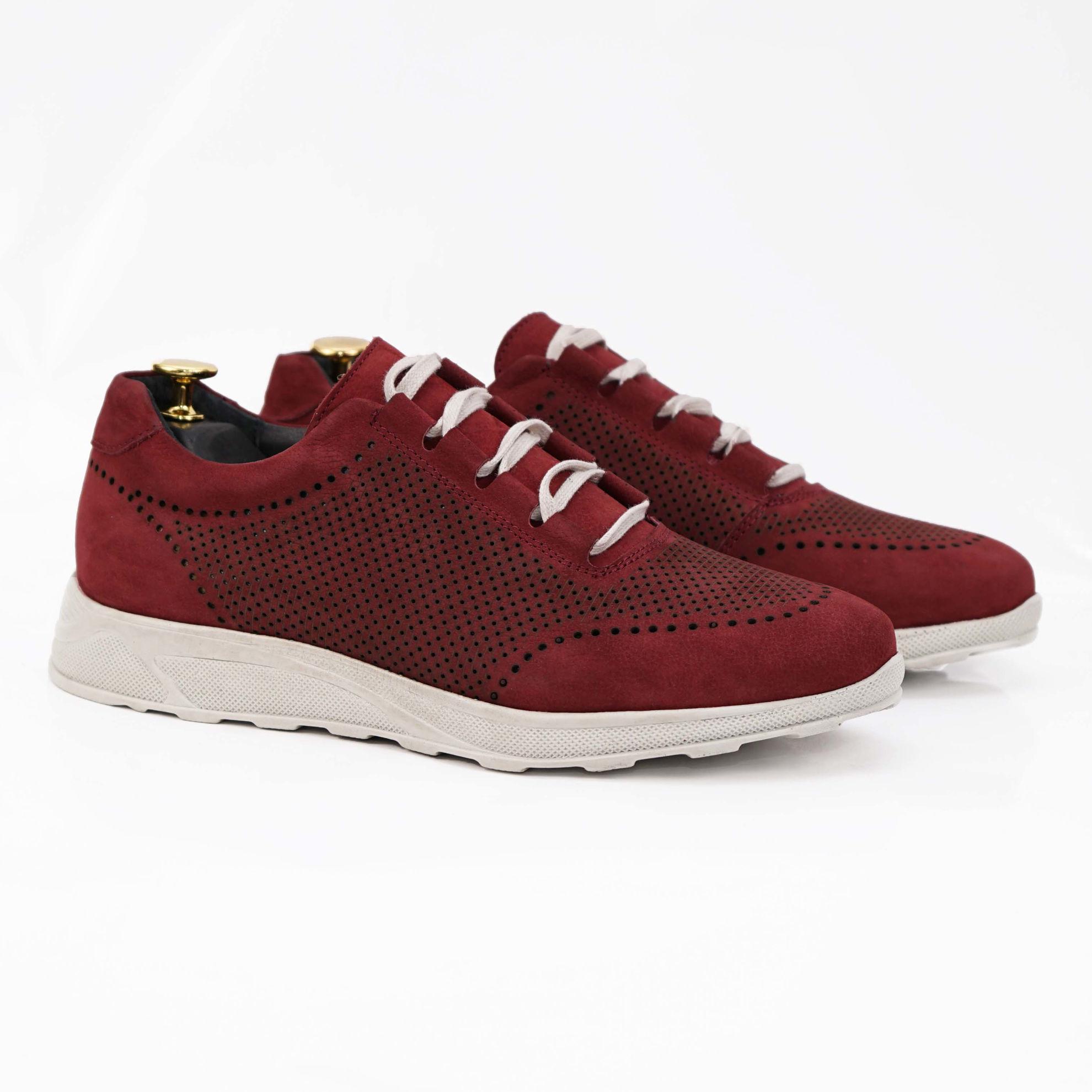 Imagine Pantofi sport bărbați piele naturală 447  visiniu buf