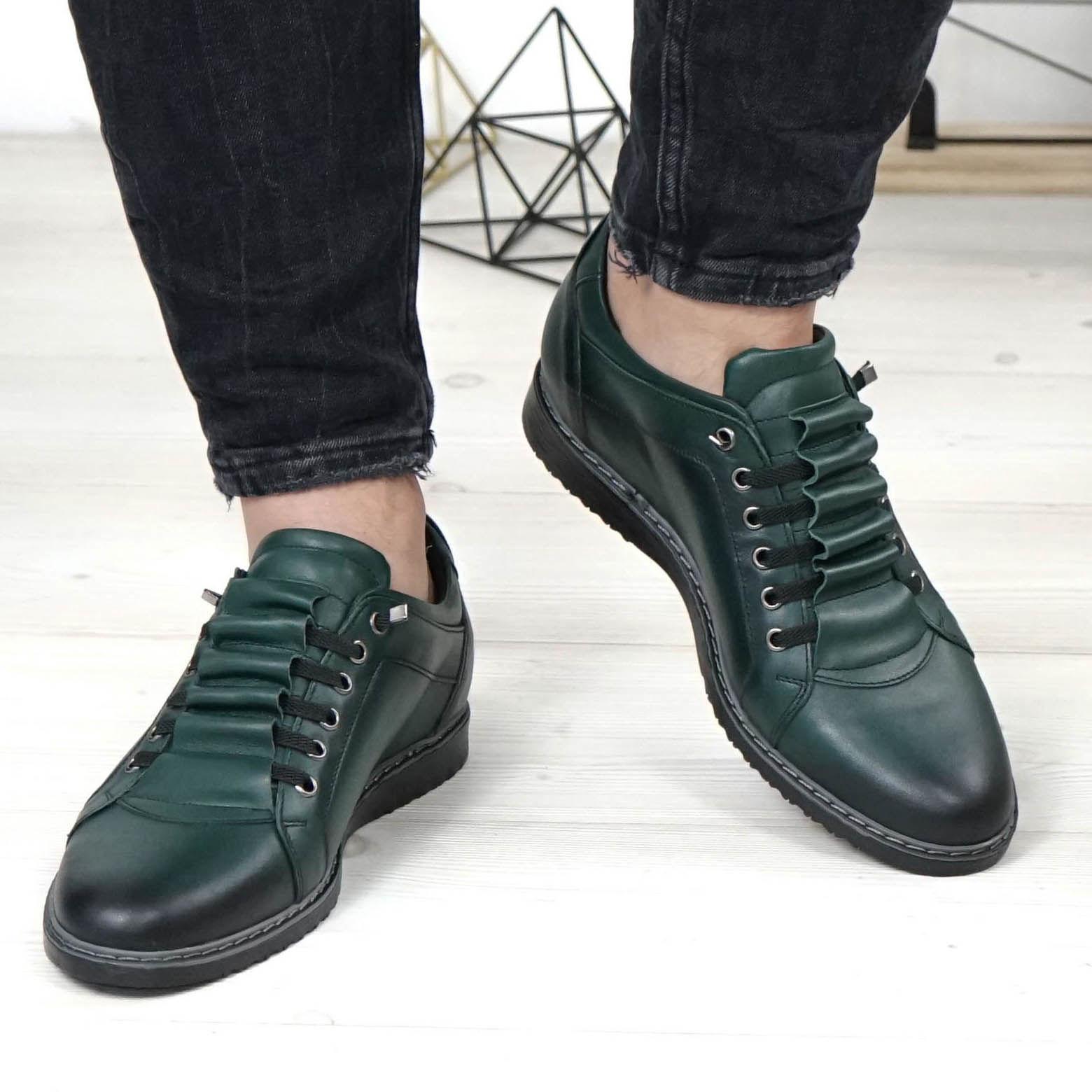 Imagine Pantofi sport bărbați piele naturală 433M verde