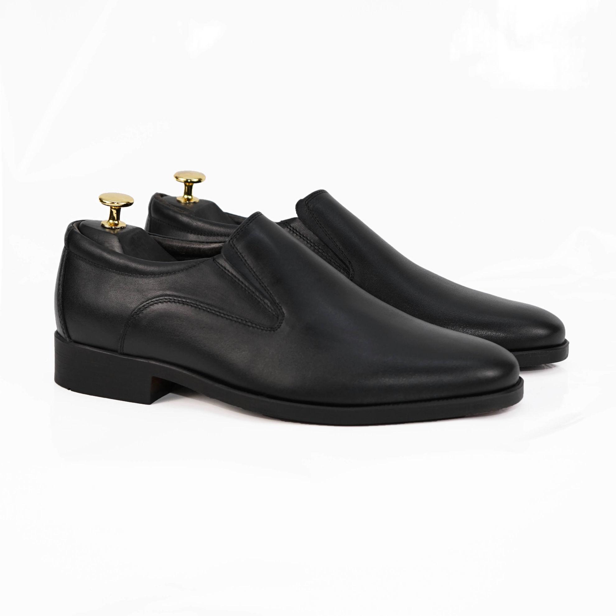 Imagine Pantofi eleganți bărbați din piele naturală 300 Negru