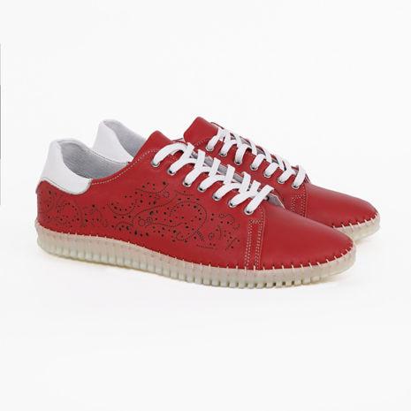 Imagine Pantofi damă piele naturală 147rosu