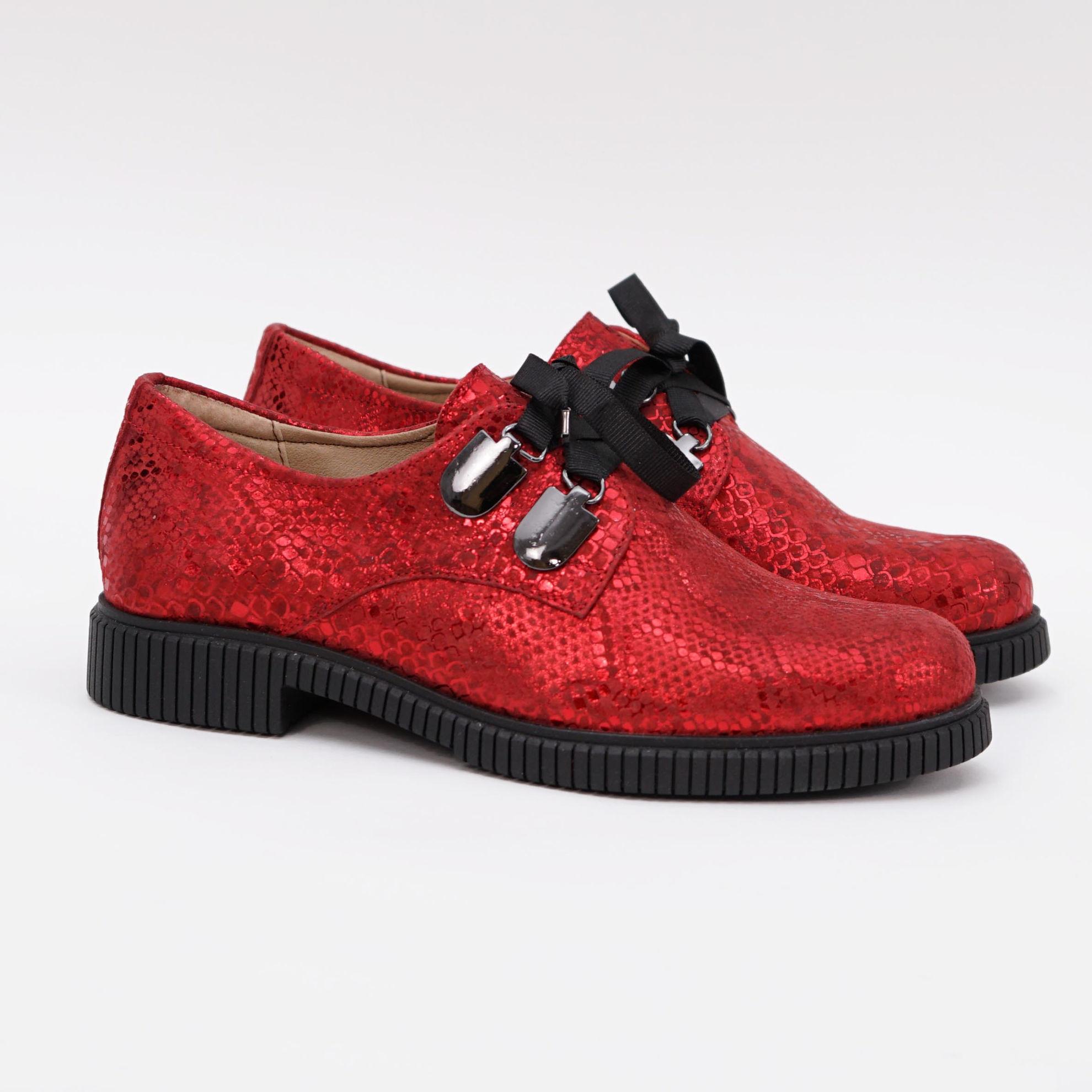 Imagine Pantofi damă piele naturală L 206 rosu snake