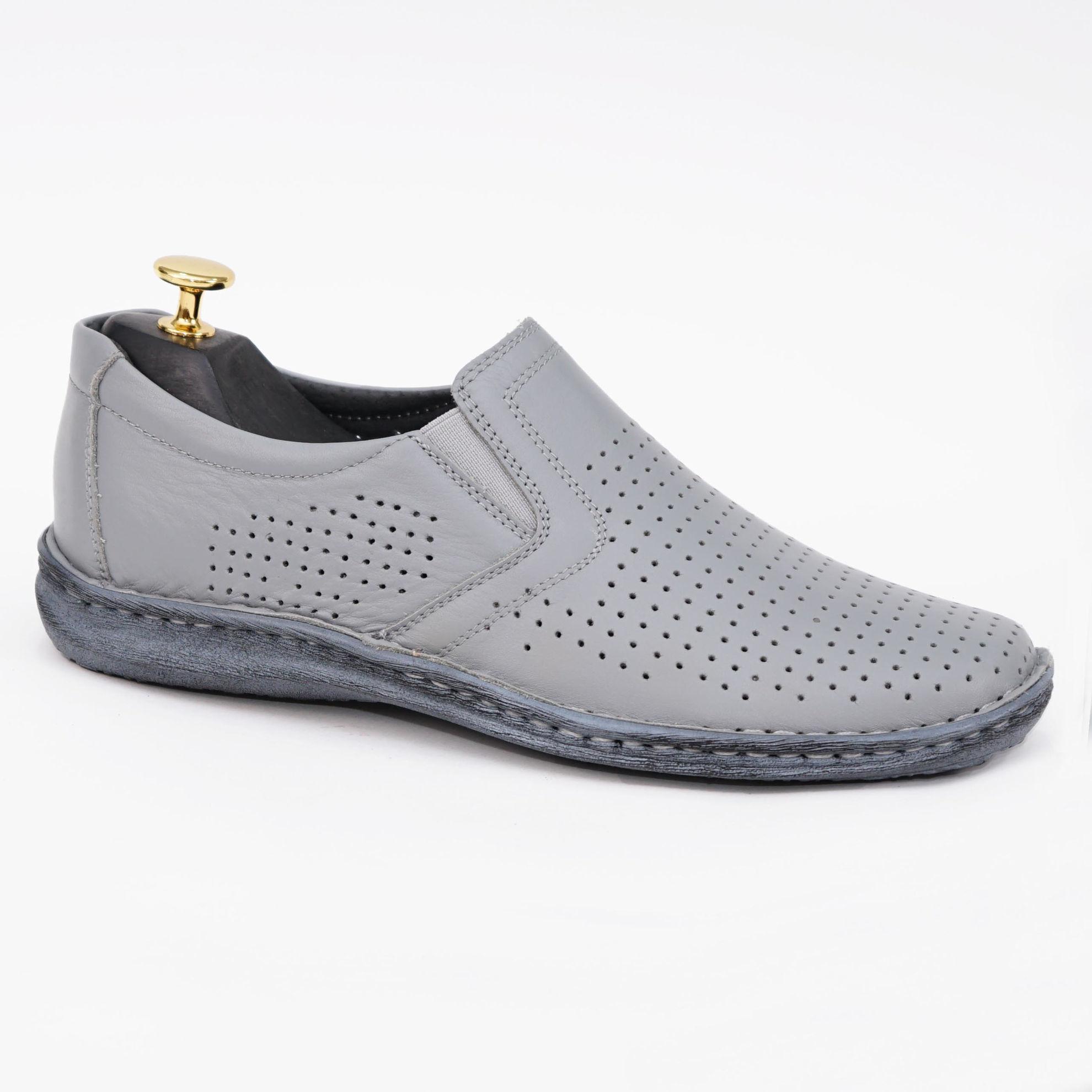 Imagine Pantofi casual bărbați piele naturală dov gri