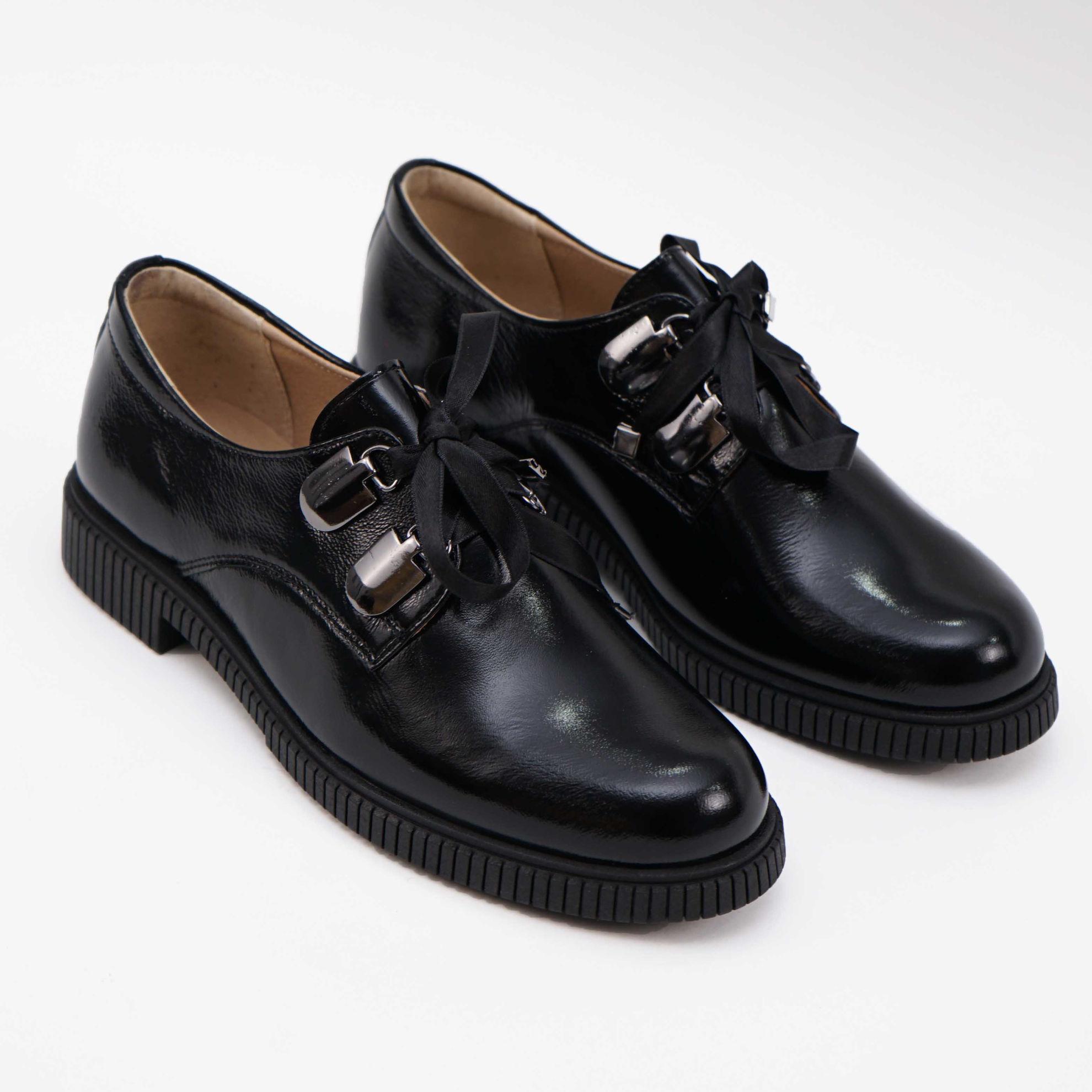 Imagine Pantofi damă piele naturală lacuita L 207 negru