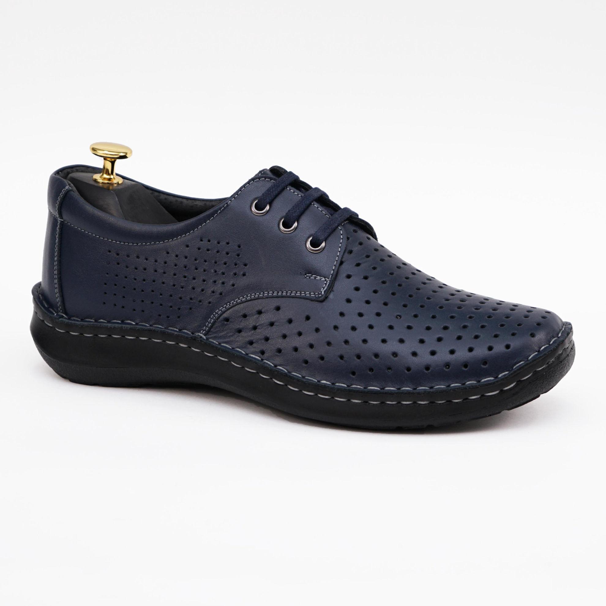 Imagine Pantofi casual bărbați piele naturală Dov bleumarin