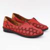 Imagine Pantofi perforati damă piele naturală T 3500 visiniu