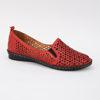 Imagine Pantofi perforati damă piele naturală T 4000 visiniu