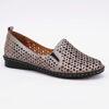Imagine Pantofi perforati damă piele naturală T 4000 argintiu