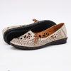 Imagine Pantofi perforati damă piele naturală T 2000 bej